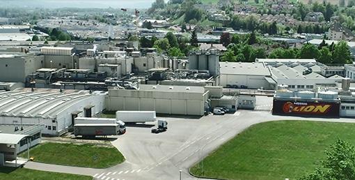 Site de production de Nestlé Céréales à Rumilly (74) qui produit, entre autres, les céréales Lion et Chocapic. Photos DR